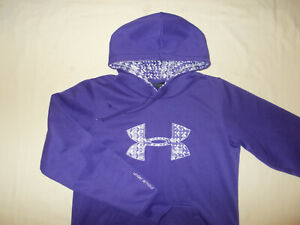 UNDER ARMOUR PURPLE SEMI-FITTED HOODED SWEATSHIRT WOMENS MEDIUM EXCELLENT COND.