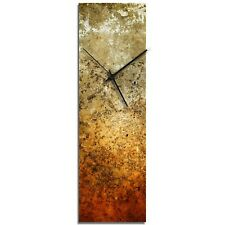 Modern Wall Clock Contemporary Kitchen Decor Distressed Abstract Urban Accent
