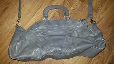 ASOS Grey Faux Leather Crossover Bag