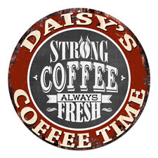CWCT-0295 DAISY'S COFFEE TIME Chic Tin Sign Decor Gift Ideas