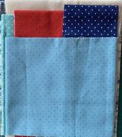 Moda and Makower Fabrics Scrap pack. Min contents 1 metre. 100% cotton