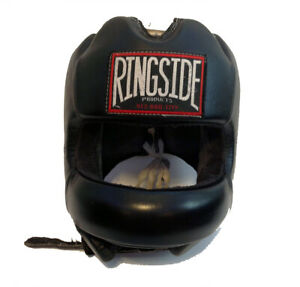 Ringside Headgear Face Saver Boxing MMA Sparring Nose Protection - Black