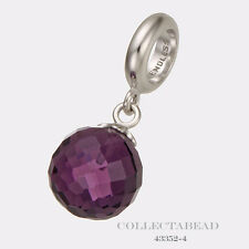 Authentic Endless Sterling Silver Amethyst Love Drop Bead 43352-4