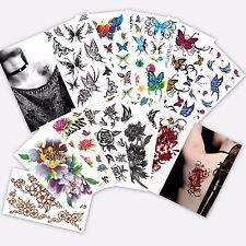 24-pcs Wholesale Temporary Tattoo, Bulk Flower Rose & Butterflies Tattoos Sale