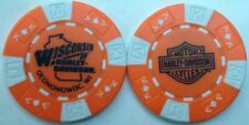 Wisconsin Harley-Davidson® in Oconomowoc, WI Collector Poker Chip Orange/White