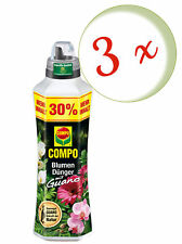 Sparset: 3 x COMPO Blumendünger mit Guano, 1,3 Liter