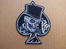 ECUSSON PATCH THERMOCOLLANT AS PIQUE ace spade crane skull biker / 9.8 x 7.8cm