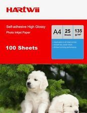 100 Sheets A4 135Gsm Self-adhesive Stick High Glossy Ink Printing  Photo Paper
