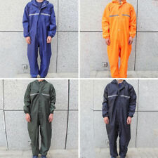 Motorbike Motorcycle Waterproof Raincoat Rain Suit One-Piece Overalls Work AU