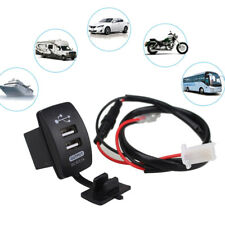 3.1A Universal Charger Adapter Dual 2 USB Port 12V In Car Socket Lighter ABS UK