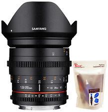 Samyang 20mm T1.9 Cine ED AS UMC Wide Angle Full Frame Lens for Sony E mount