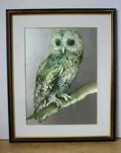 'Barn Owl' by Jan Huston Signed Print on Silver Foil 56x45cm (Hospiscare)