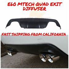 BMW E60 E61 5 SERIES MTECH REAR PLASTIC DUAL QUAD DIRECT REPLACEMENT DIFFUSER
