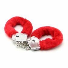 Steel Fuzz Furry Cuffs Metal Handcuffs