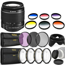 Canon EF-S 18-55mm f/3.5-5.6 IS II Lens Filter Accessory Kit for Canon SL1 SL2