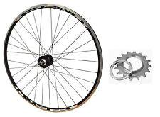 700c REAR TRACK Mach Omega 16T Single Speed Fixie Wheel Black Rim & Black Spokes