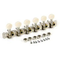 Classical Folk Guitar Tuning Pegs Tuner Parts Machine Heads Nickel Plated Key 6R
