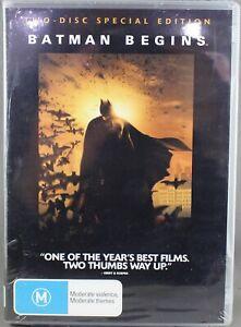"BATMAN BEGINS (DVD, 2005 - 2 DVD DISC SET) BRAND NEW / SEALED ""REGION 4"""