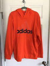 NWT Adidas Orange Hooded Pullover Sweatshirt - M