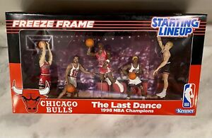 Michael Jordan Starting Lineup Chicago Bulls TEAM RARE  1/1 Custom Last Dance 🔥