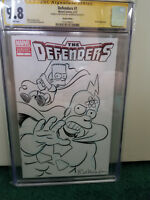 CGC Signed & Sketched 9.8 by Bill Morrison, The Defenders #1