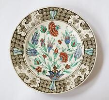 Vittoriano Stile Ottomano turco di Iznik CONTINENTAL piatto c1890
