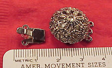 Vintage 25mm Filigree Silver Necklace Clasp Connector French Baroque Gypsy Bead