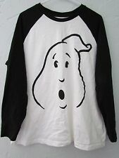 GHOSTBUSTERS WHITE GRAPHIC TWO TONED JERSEY T-SHIRT MEN'S SIZE XL (46-48) EUC!