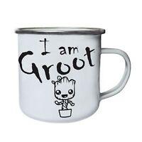 I am groot Retro,Tin, Enamel 10oz Mug dd961e