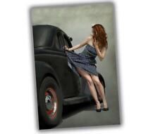 "War Photo Vintage Pin-up poses Hot Road Girl woman Glossy Size ""4 x 6"" inch O"