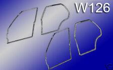 MERCEDES W126 4X TÜRDICHTUNG VORNE + HINTEN S + SE NEU 280SE 300SE 380SE 500SE