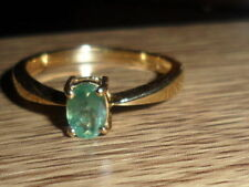 GOOD COLOUR CHANGE VERY RARE 18K INDIAN ALEXANDRITE OVAL CUT RING 0.428 CT RARE,