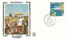 1980 POPE JOHN PAUL II SALVADOR BRAZIL VISIT POST COVER