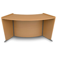 Marque ADA Reception Desk Extension for Disabilities Compliance in Maple Finish