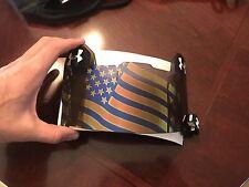 Under Armour Football Helmet Visor EyeShield Eye Shield USA Flag BLUE MIRROR