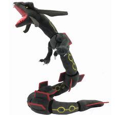 "Pokemon Center Go Plush Toy Black Mega Rayquaza Dragon Stuffed Animal Doll 31"""