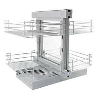 Magic Corner Kitchen Baskets Pull Left Hand Slide Out Wire Storage 800 - 900mm