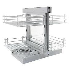 Magic Corner Kitchen Baskets Pull Out Left Hand Slide Out Wire Storage 80-90cm