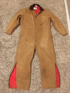 Walls Zero Zone Size XL Short Brown Duck Canvas Insulated Coveralls Workwear