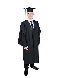 Graduation Gown / Academic Robe and Mortarboard Cap Set (available in 7 colours)