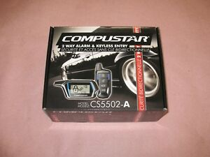 Compustar DEI CS5502-A CS5502A 2Way Car Security System Keyless Entry Car Alarm