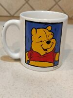 "Disney Store Winnie Pooh Large Coffee Mug ""Pooh"" on handle Collectible Gift"