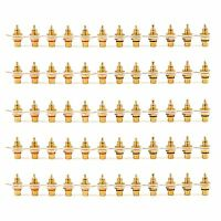 60 Pcs Gold Plated RCA Female Jack Panel Mount Chassis Socket Red Black