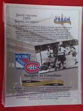 NHL MONTREAL CANADIENS ORIGINAL SIX TEAMS 1995  LAST GAME at FORUM LINE-UP SET