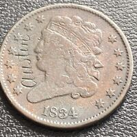 1834 Classic Head Half Cent 1/2 Cent Love Token engraved AUSTIN #29043