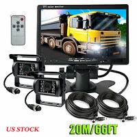 "7"" DIGITAL BACK UP REAR VIEW Monitor + REVERSING CAMERA SYSTEM FOR TRUCK TRACTOR"
