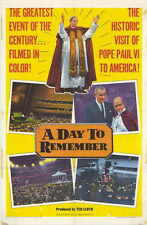 A DAY TO REMEMBER Movie POSTER 27x40 Pope Paul VI