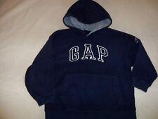 EUC Boys XS GAP Navy Heavy Fleece Hoodie Front Embroidered Logo