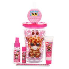Ty Beanie Boo Safari Giraffe Insulated Cup Almond Cream Hand Lotion Lip Balm Set