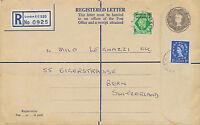 MOROCCO AGENCIES 1965 QEII 2 Sh. registered env + GVI 7 D MOROCCO AGENCIES in UK
